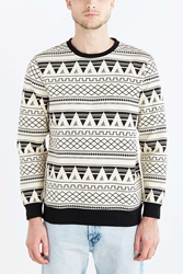 Bdg Geo Pattern Crew Neck Sweatshirt White