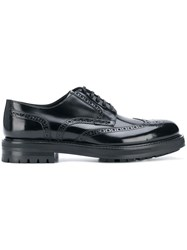 Dolce And Gabbana Chunky Sole Brogues Black