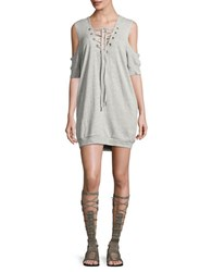 Blank Nyc Criss Cross Tie Front Dress Grey