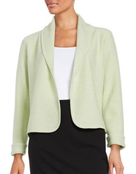 Nipon Boutique Open Front Wool Cardigan Pistachio