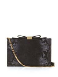 See By Chloe Nora Python Effect Leather Clutch