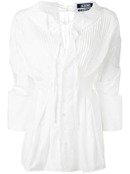 Jacquemus Pleated Bib Blouse White