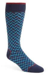 Ted Baker London Enom Geometric Socks Navy