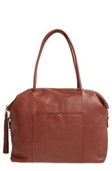 Hobo 'Porter' Leather Tote Brown Brandy
