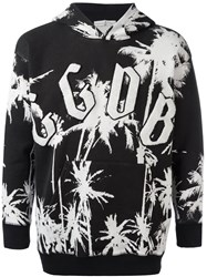 Golden Goose Deluxe Brand Palm Tree Print Hoodie Black