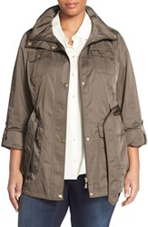 Plus Size Women's Ellen Tracy Short Techno Trench Coat