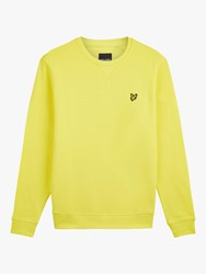 Lyle And Scott Crew Neck Sweatshirt Buttercup Yellow