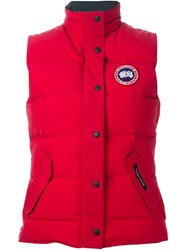 Canada Goose 'Freestyle' Gilet Red