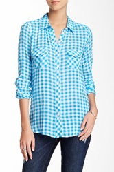 Candc California Two Pocket Plaid Shirt Blue