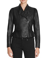 French Connection Chariot Faux Leather Jacket Black