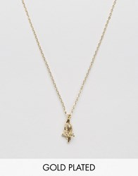 Ny Lon Nylon Gold Plated Necklace With Parrot Charm Gold Plated