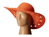 San Diego Hat Company Ubl6481 Ultrabraid Sun Brim With Open Weave Circular Details Coral Caps