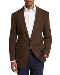 Stefano Ricci Casual Two Button Casual Sport Jacket Brown