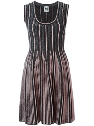 M Missoni Sleeveless Knit Flared Dress Black