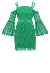 Three Floor Rainforest Summer Dress Emerald Green