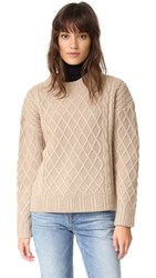 Finders Keepers Odom Cable Knit Sweater Biscuit