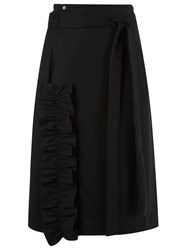 Reinaldo Lourenco High Waisted Midi Skirt Black