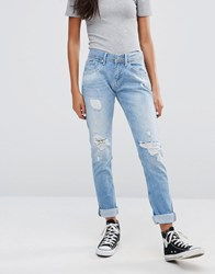 Pepe Jeans Spark Ripped Boyfriend Blue