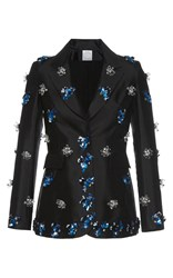 Huishan Zhang Beaded Daisy Jacket Black