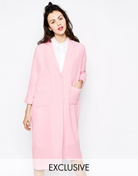 Monki Duster Coat Pink