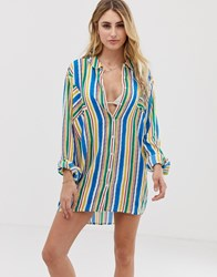 Akasa Exclusive Multi Stripe Beach Shirt