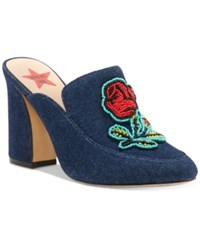 Inc International Concepts Anna Sui X Maddiee Mules Created For Macy's Women's Shoes Denim