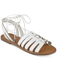 Indigo Rd. Baku Lace Up Sandals Women's Shoes White