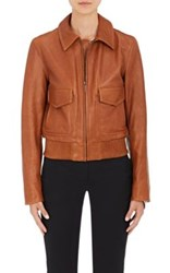 Helmut Lang Women's Leather Jacket Dark Brown