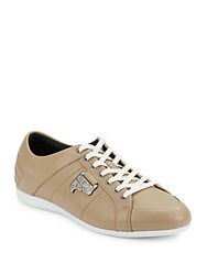 Versace Lace Up Sneakers Beige