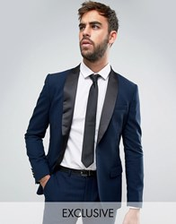Only And Sons Super Skinny Tuxedo Suit Jacket Navy