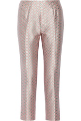 Raoul Printed Silk And Cotton Blend Straight Leg Pants