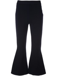 Stella Mccartney Casual Cropped Flared Trousers Blue