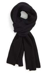 Men's Calibrate Ribbed Wool And Cashmere Scarf