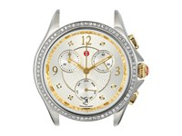 Michele Belmore Chronograph 18Mm Two Tone Diamond Watch Gold Silver
