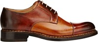 Harris Burnished Cap Toe Bluchers Brown