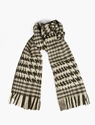 Our Legacy Monochrome Houndstooth Wool Scarf