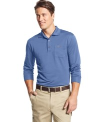 Greg Norman For Tasso Elba Big And Tall 5 Iron Long Sleeve Solid Performance Polo Only At Macy's
