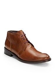 Robert Graham St. Marks Leather Chukka Boots Cognac