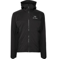 Arc'teryx Atom Sl Slim Fit Padded Nylon Ripstop And Stretch Jersey Hooded Jacket Black