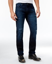 Guess Men's Slim Fit Straight Jeans Ubwd Turqu