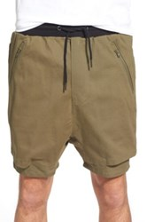 Thing Thing 'The .Com' Layered Shorts Green
