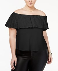 Rachel Roy Trendy Plus Size Off The Shoulder Top Only At Macy's Black