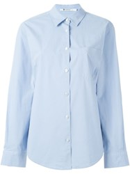 T By Alexander Wang Chambray Shirt Blue
