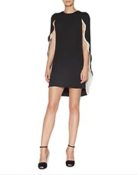 Halston Heritage Caped Dress Black Champagne