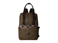 Pendleton Timberline Twill Backpack Tote Diamond River Tonal Backpack Bags Brown