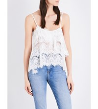 The Kooples Flared Overlay Scalloped Lace Camisole Ecr01