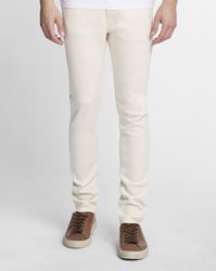 Nudie Jeans Beige Selvedge Denim Tapered Slim Fit Lean Dean