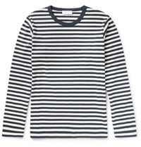 Enlist Enlit Ocar Triped Cotton Jerey T Hirt Navy