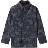 Barbour Heritage Waxed Camo Sl Bedale Jacket Blue