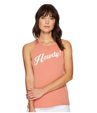 Project Social T Howdy Tank Top P. Terra Cotta Women's Sleeveless Pink